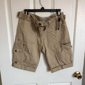 Khaki bermuda shorts